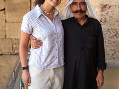 Becky and the guard, Baalbek