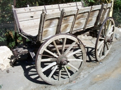 This wooden wagon has seen better days; outskirts of Beirut