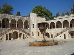 Inner courtyard view of Beiteddine Palace