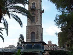 View of Saahat al-Tell (Al-Tell Clock Tower), constructed by the Ottomans as a gift to Tripoli
