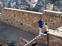 Becky exploring the Citadel of Tripoli