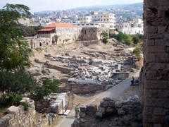 Entrance to the ancient Phoenician temples of Byblos