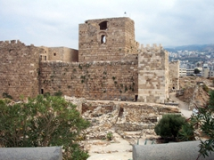 The Crusader Fort, or Byblos Castle was built from limestone by the Crusaders in the 12th Century