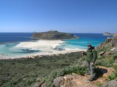 Robby hiking down to Balos beach; Crete