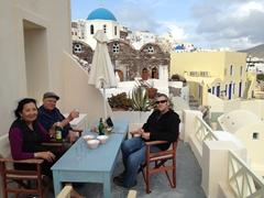 On our balcony at Old Oia Houses; Santorini