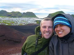 At the summit of Eldfell Volcano; Heimaey