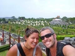 Taking a break at Nong Nooch Gardens; Pattaya