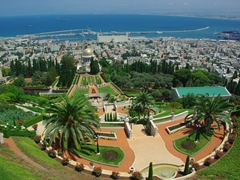 A view of the stunningly beautiful Baha'I Gardens, a UNESCO world heritage site