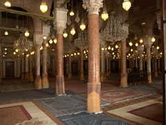 Interior view of the Great Mosque. The builders used 184 columns from Carthage to build the central prayer hall!