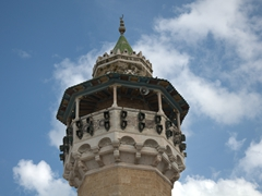 View of the minaret of Hammouda Pacha Mosque (built in 1655)