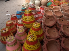 Clay pots for sale at Bab Souika