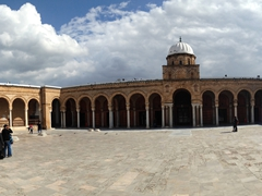 Panorama of the Great Mosque. Note that only the courtyard is available to non-Muslim visitors