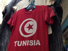 Tunisian pride is everywhere...fancy a souvenir t-shirt?