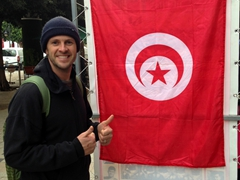 Robby flashes two thumbs up for magnificent Tunisia!