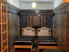 Our room in Dar Ya. Check out the traditional tile work!