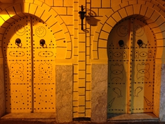 Doors of the medina seen during our evening stroll