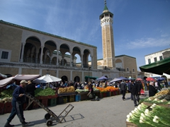 The Halfaouine market culminates around Sahib el-Tabia Mosque