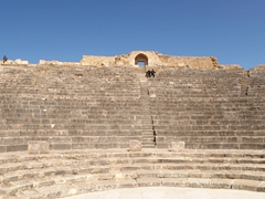 The performers' view of Dougga theater (remarkably well preserved considering it was built in 188 AD)