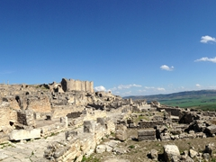 A final panoramic vista of beautiful Dougga, some of the finest Roman ruins in all of Tunisia!