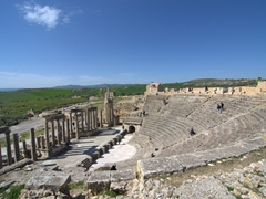 Dougga theater, capable of seating 3500