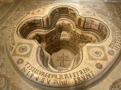 A baptismal font discovered in Demna (Cap Bon)