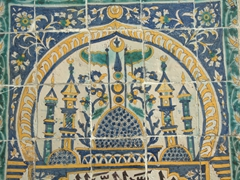 Magnificent tile work on display at the Bardo