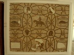 Man riding a tiger mosaic