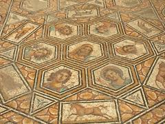 Large hexagram zodiac mosaic