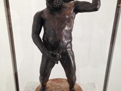 Drunk Hercules taking a piss
