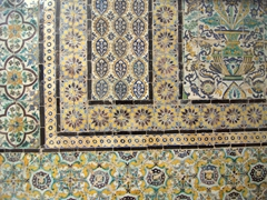 The Bardo Museum is housed in the former palace of the Husseinite beys. Check out the tiled wall detail