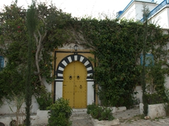 At last, we finally spot a door that boycotted the blue and white color scheme of Sidi Bou Said!