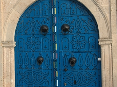 Check out the ornate detail of this Sidi Bou Said door
