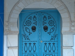 Countless unique blue doors in Sidi Bou Said