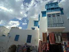 Shops line the cobblestoned streets of Sidi Bou Said