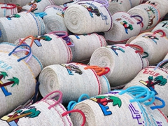 Woven baskets for sale; Tozeur