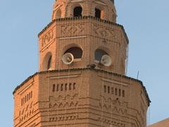 Check out this minaret's unique brick facade