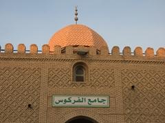Intricate brickwork on a mosque