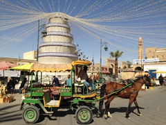 Horse carriage ride in Ouled el Hadef