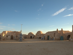 Mos Espa, a well preserved Star Wars set in the middle of the desert!