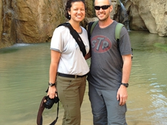 Posing at one of Tamerza's waterfalls