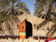 An inviting scene at El Bey restaurant in Douz