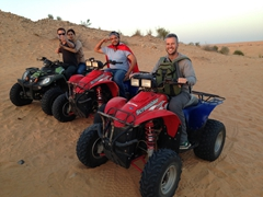 Gregory, Hela, Ala and Robby enjoying the quad bike ride