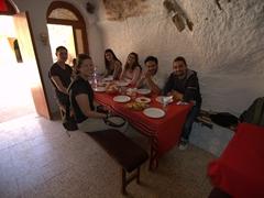 Group lunch in a troglodyte restaurant; Matmata