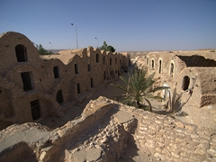 "Ksar Hadada, used as the town ""Mos Espa"" in Galatic Planet Tatooine in the Star Wars movie ""The Phantom Menace"""