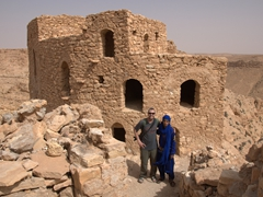 Robby and Ismail at the top of the deserted kala'a of Douiret