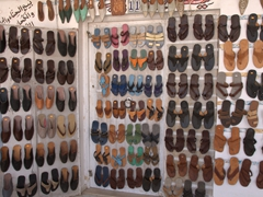 Leather sandals for sale; Tataouine