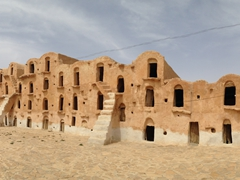 Ksar Ouled Soltane has a whopping 400 ghorfas (long, narrow cave like rooms used to store grains)