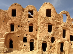 Tataouine's Ksar Megabla is a perfect example of an untouched ksar (originally built in 1409 with little upkeep)