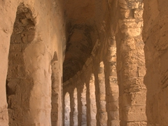 Supporting columns; El Jem amphitheater