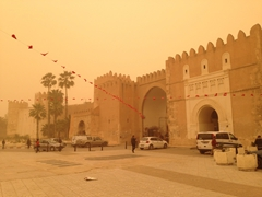 It was a horrible afternoon to be out and about. Dust and sand got into every orifice while we walked around Sfax